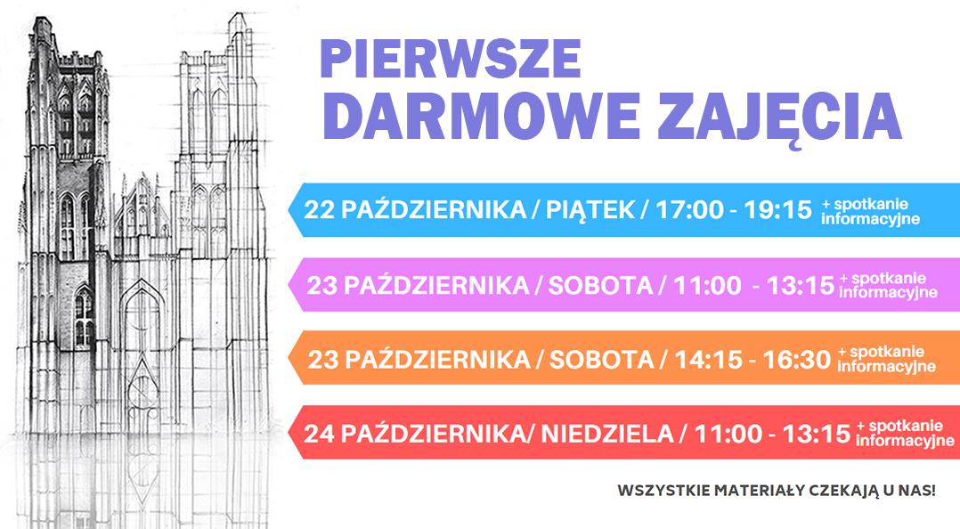 Szkoła rysunku i malarstwa PERSPEKTYWA w Warszawie - pierwsze darmowe zajęcia